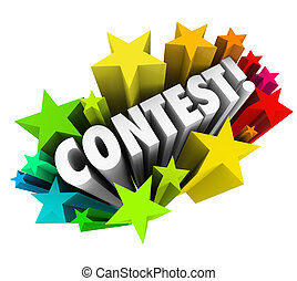 Contest Word Stars Fireworks Exciting Raffle Drawing News -...