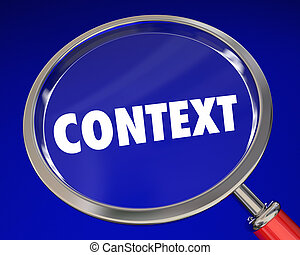 Context Word Magnifying Glass Meaning Information 3d Illustration
