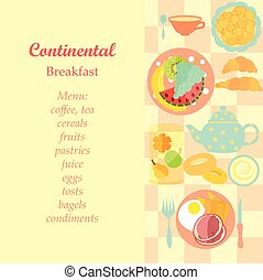Continental Breakfast - Set of Standard Hotels Continental...