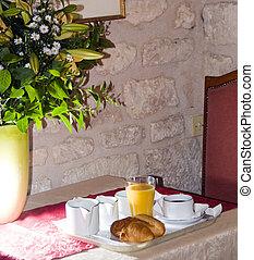 continental breakfast in hotel paris france