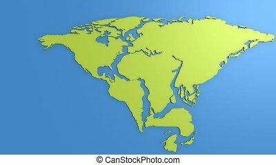 Super continent Pangea and sea Tetis