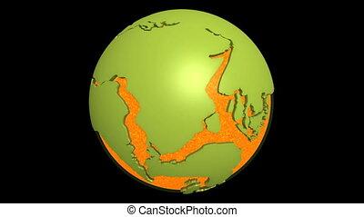 continentale, magma, deriva, pacifico