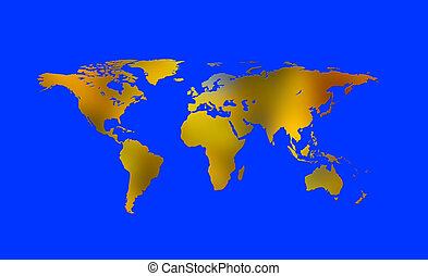 Continents 4 - Continents in blue space