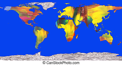 continents - Continents in bright colors