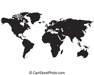 Continents of planet earth on white background. Vector illustration