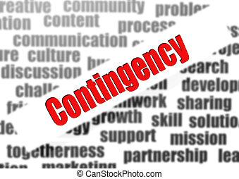 Contingency word cloud