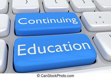 continuar, conceito, educação