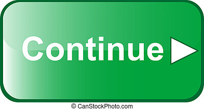 CONTINUE green Button web internet next validate submit