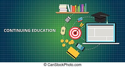 continuer, processus, education