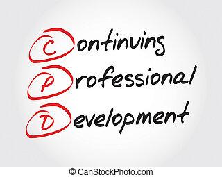 continuer, professionnel, développement