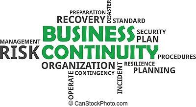 continuidade, palavra, -, nuvem, negócio