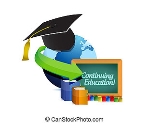 Continuing education concept illustration