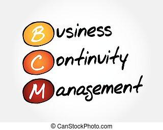 continuità, bcm, amministrazione, -, affari