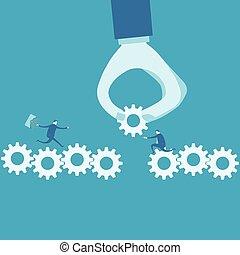 continuità, concetto, affari