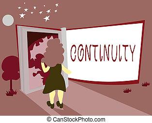 continuity., negócio, foto, sobre, escrita, conceitual,...