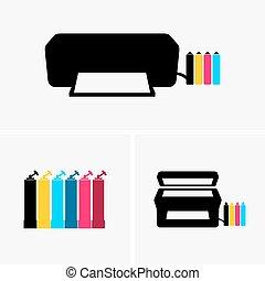 continuo, inchiostro, sistemi, fornitura