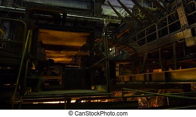 Continuous casting plant. Steel works.