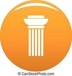 Continuous column icon vector orange