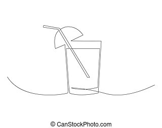 Continuous glass line drawing stock vector