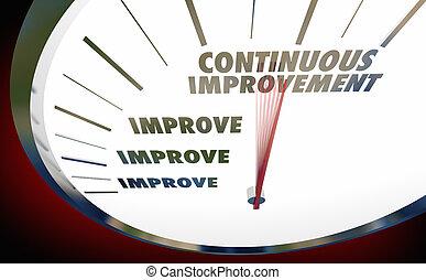 Continuous Improvement Always Get Better Speedometer 3d Illustration