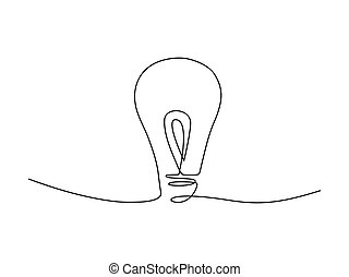 Continuous lamp line drawing stock vector illustration