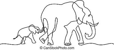Geometric Elephant Tattoo Outline - Best Tattoo Ideas   Mom And Baby Elephant Outline
