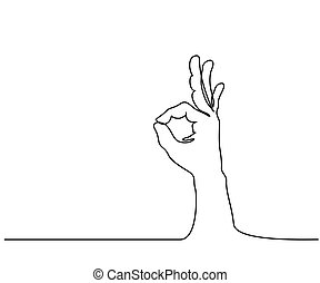 Hand in ok sign on a white isolated background