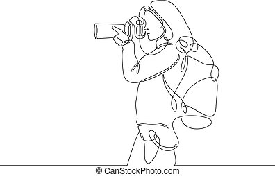 continuous line drawing photographer