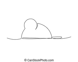 Continuous mouse line drawing