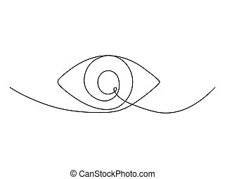 Continuous one line eye drawing.