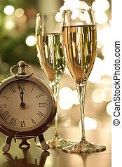 conto alla rovescia, celebrazioni, champagne