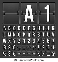 conto alla rovescia, timer, e, data, calendario, scoreboard