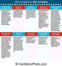 conto, costituzione, stati uniti, diritti