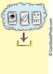 contorneado, archivos, a, descargue, de, nube