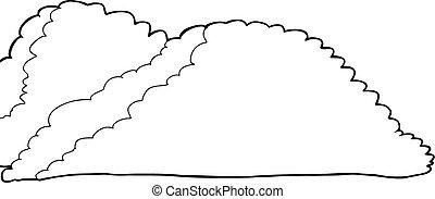 contorneado, cumulonimbus