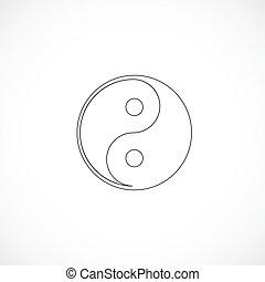 contorneado, yang de yin