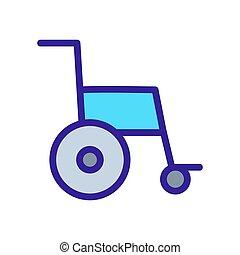 contorno, carrozzella, vector., illustrazione, simbolo, isolato, icona