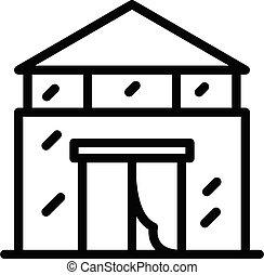 contorno, edificio, estilo, icono, agronomist