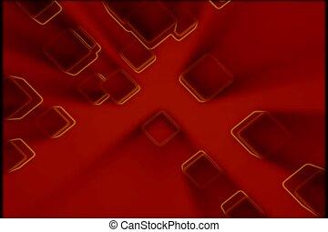 contorno, evidenziato, rosso