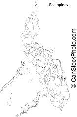 contorno, filipinas, mapa