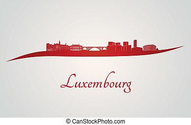 contorno, luxemburgo, rojo