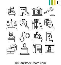 contorno, magistratura, iconos