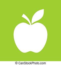 contorno, mela, icona