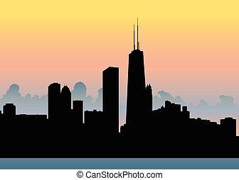 contorno, ocaso, chicago