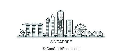 contorno, singapur, bandera