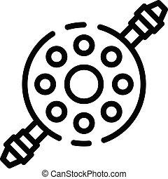 contorno, stile, bicicletta, icona, shifter, riparazione