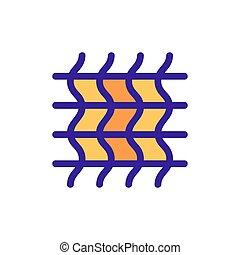 contorno, vector., ilustração, algodão, símbolo, isolado, ícone