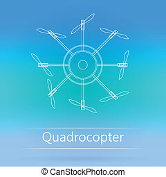 Contour ad layout for quadrocopter - White outline mock up...