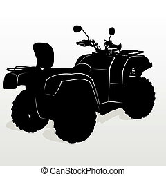 Contour ATV - The contour of modern motorcycles. The...