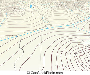 Contour background - Editable vector illustration of an...